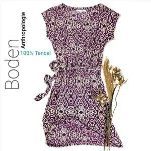 💥 Boden Anthropologie 100% Tencel Purple Dress 6R